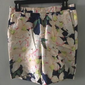 J Crew Floral Shorts Size 0